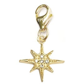 Julieta Jewelry Sunburst CZ Clip-On Charm