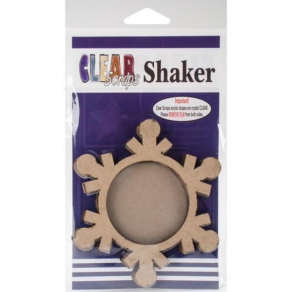 """- Clear Scraps Chipboard & Acrylic Shaker Shape 3.5""""X4.5"""""""