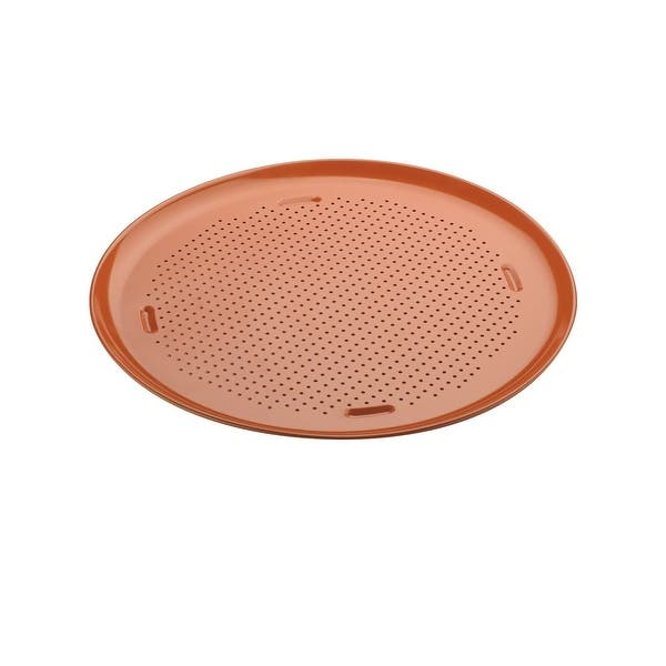 Shop Culinary Edge Ceramic Copper Pro Nonstick Bakeware 16 Pizza Pan Overstock 20164123