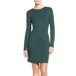 Link to French Connection Women's Lula Stretch Bodycon Dress, Green, 2 Similar Items in Dresses