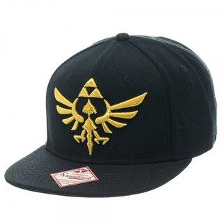 Legend of Zelda Triforce Snapback Hat - Black