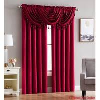 "Kathryn Jacquard Leaf Rod Pocket Single Curtain Panel - 54"" w x 84"" l"