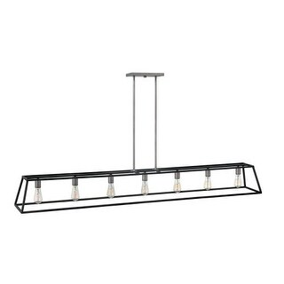 Hinkley Lighting 3355 7 Light 1 Tier Linear Chandelier from the Fulton Collection (2 options available)