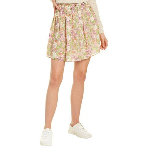 Leyden Smocked Mini Skirt