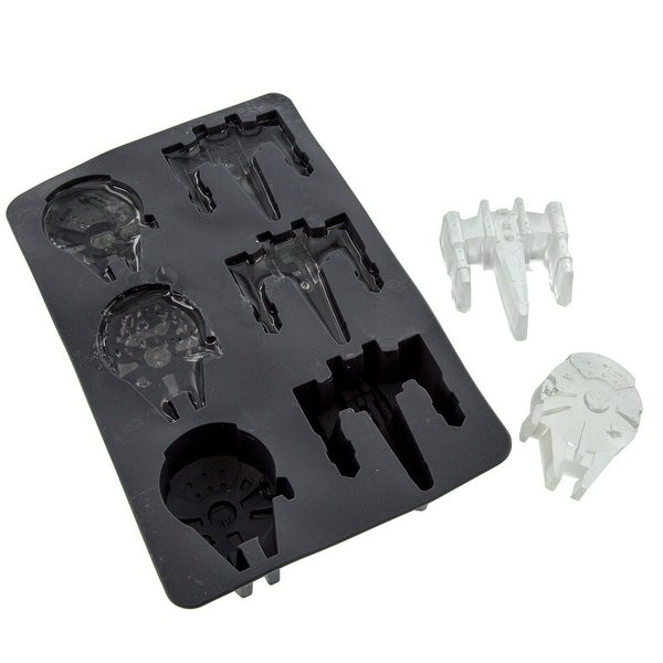 Star Wars Silicone Ice Cube Tray: Millennium Falcon and X-Wing - Multi