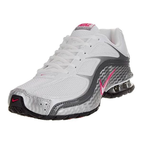 Shop Nike Women S Reax Run 5 Running Shoes Size 9 White Metallic