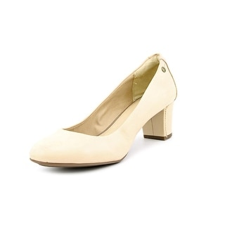 Hush Puppies Imagery Pump Round Toe Leather Heels