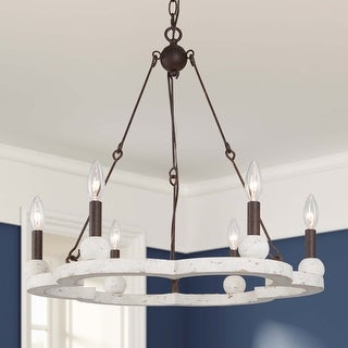 6 Light Farmhouse Chandeliers 23.6