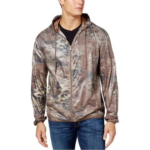 Weatherproof Mens Phantom Windbreaker Jacket, brown, Large