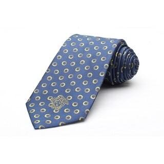 Versace Men's Medusa Logo Circle Pattern Silk Neck Tie