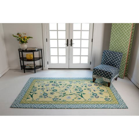 Madcap Cottage by Momeni Under A Loggia Blossom Dearie In-outdoor Rug
