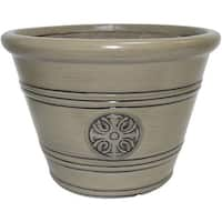 "Southern Patio HDP-019282 Modesto Planter, 12"" Chinchilla"