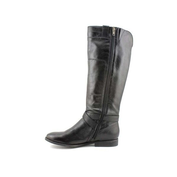 Womens Artful Leather Round Toe Mid-Calf Fashion Boots