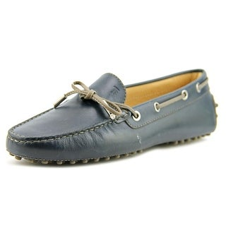Tod's Cuoio Vn Macro Spilla Strass Women Leather Blue Moccasins