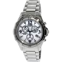 Citizen Women's Eco-Drive  Silver Stainless-Steel Fashion Watch