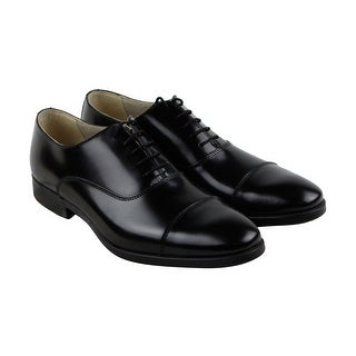 Kenneth Cole Reaction Whiplash Mens Black Leather Casual Dress Oxfords Shoes