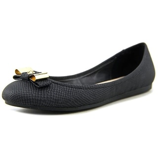 Bar III Zero Women  Round Toe Synthetic Black Flats