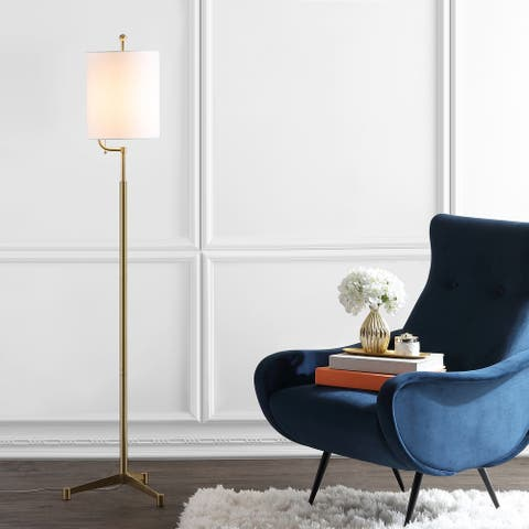 "SAFAVIEH Lighting 62-inch Ezekiel LED Floor Lamp - 14.5"" x 14.5"" x 62"""