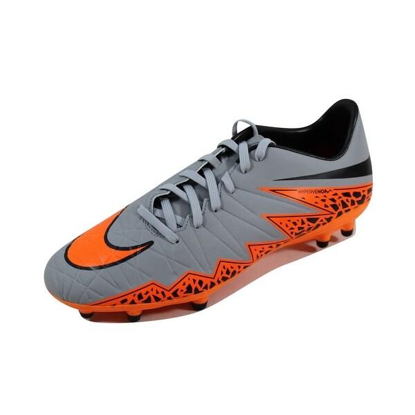 Nike Men's Hypervenom Phelon II 2 FG Wolf Grey/Total Orange-Black 749896-080