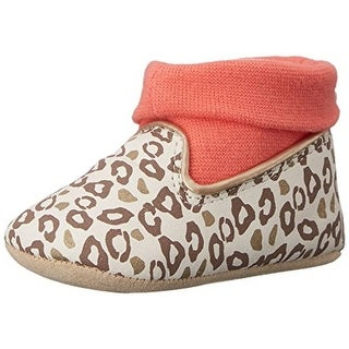 Rosie Pope Kids Footwear Playful Leopard Leopard Print Infant Girls Crib Shoes