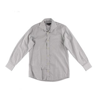The Men's Store Mens Cotton Long Sleeves Button-Down Shirt - 15.5
