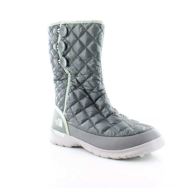 North Face Thermoball Button-Up Women's Boots Shiny Smoked Pearl Grey / Subtle Green