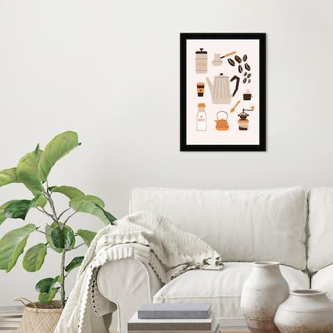 Wynwood Studio 'Coffee Brew' Drinks and Spirits Wall Art Framed Print Coffee - Brown, White