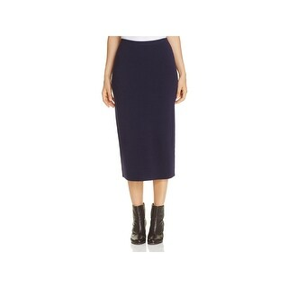 Eileen Fisher Womens Petites Pencil Skirt Silk Textured
