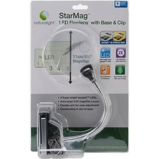 Naturalight StarMag LED Flexilens W/Base & Clip-Silver & Black
