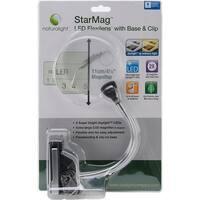Naturalight StarMag LED Flexilens W/Base & Clip-Silver & Black
