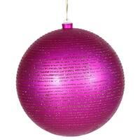 """8"""" Cerise Matte-Glitter Ball"""