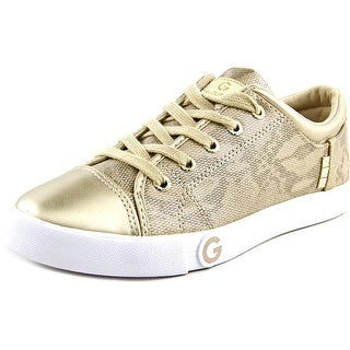 G By Guess Oona13 Women Round Toe Synthetic Gold Sneakers