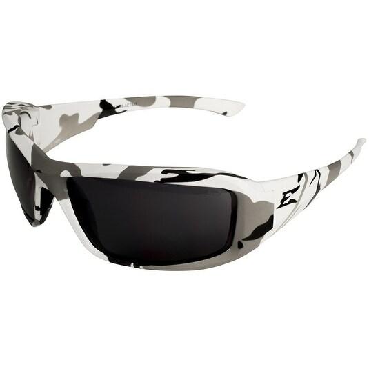 Edge XB116-AC Brazeau Arctic Camo Frame Smoke Lens Safety Glasses, Matte Black