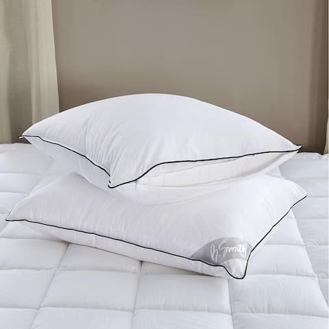 B. Smith Medium Comfort Down Alternative Bed Pillow 2-Pack - White