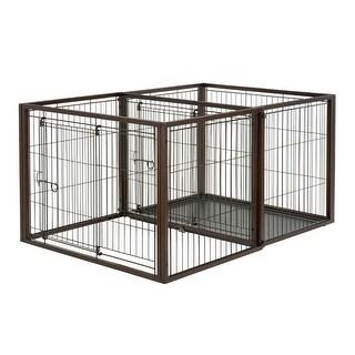 "Richell Flip To Play Pet Crate Medium Brown 41.7"" x 29.5"" x 31.1"""