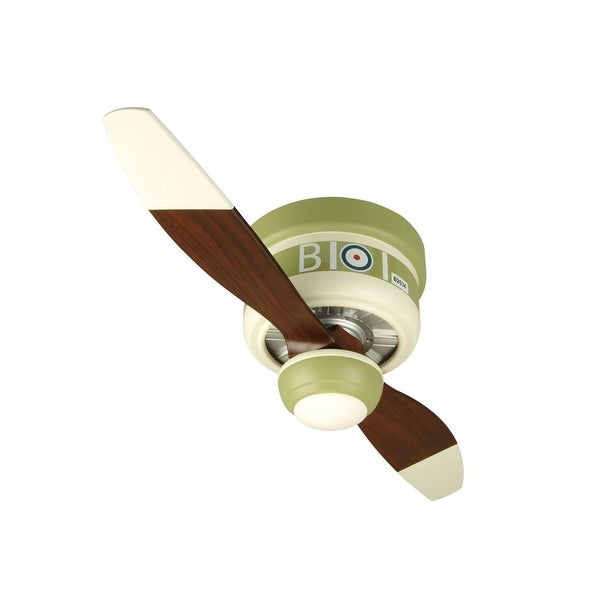 "Craftmade Sopwith Camel Youth Fans 42"" 2 Blade Flush Mount Indoor Ceiling Fan - Blades, Remote and Light Kit Included"