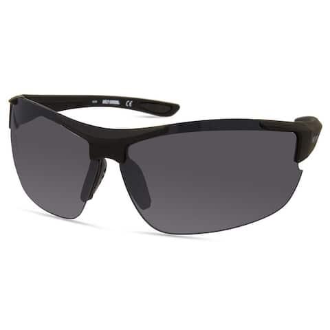 Harley-Davidson Men's Sport Wrap Sunglasses, Matte Black Frame/Smoke Lenses - 77-08-125