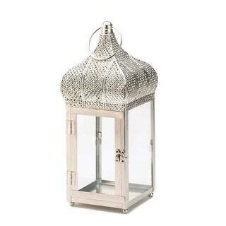 Captivating Silver Finish Square Lantern