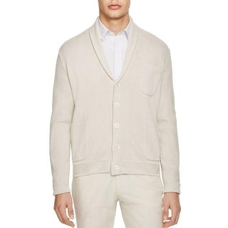Hardy Amies Mens Cardigan Sweater Knit Pocket