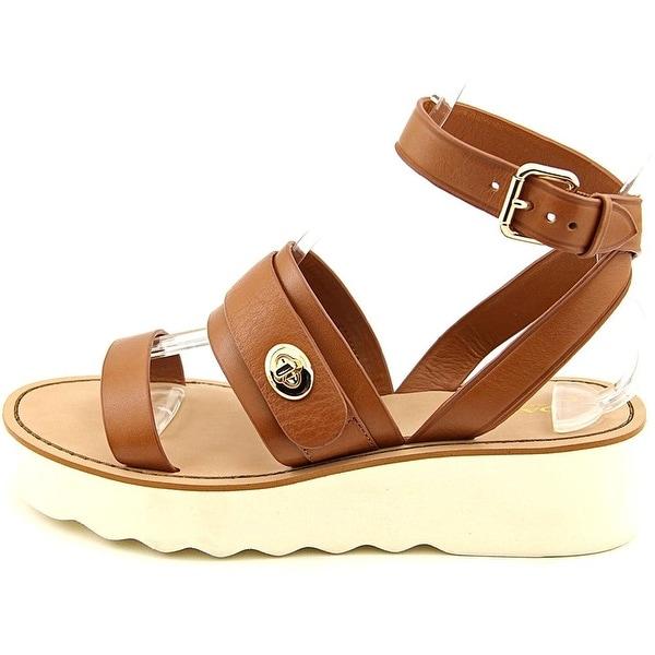 Coach Womens Platt Leather Open Toe Casual Platform Sandals