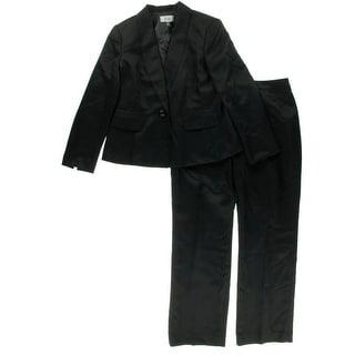 Le Suit Womens Textured 2PC Pant Suit - 14