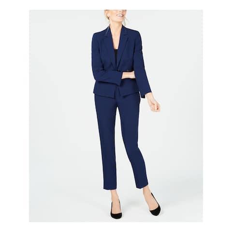 LE SUIT Navy Blazer Straight leg Pant Suit 4