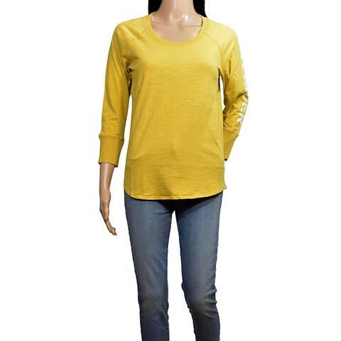 James Perse Mustard California Long Sleeve Tshirt