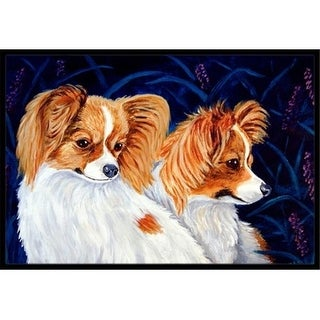 Carolines Treasures 7241JMAT Papillon Indoor Or Outdoor Doormat - 24 x 36 in.