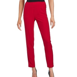 Calvin Klein NEW Red Women's Size 4 Pleated Pull-On Dress Pants