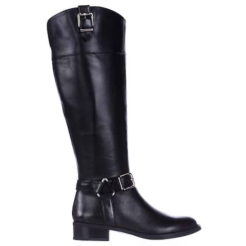 INC International Concepts Womens Fedee WC Leather Closed Toe Knee High Fashion Boots