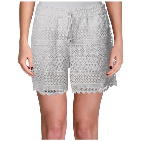 Lauren Ralph Lauren Womens Casual Shorts Lace Scalloped