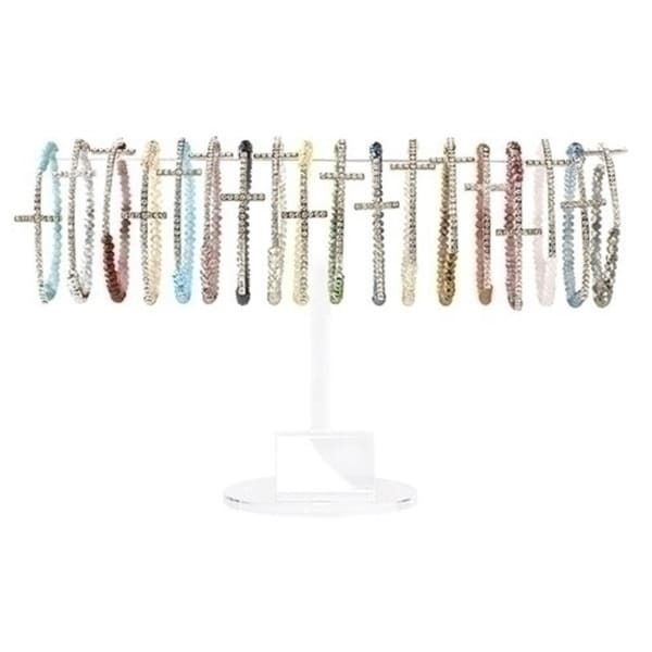 Club Pack Of 48 Orted Side Cross Bracelets With Display 3 Multi Free Shipping Today 22726293