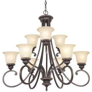 Dolan Designs 1752-148 9 Light Up Lighting Chandelier from the Hastings Collection