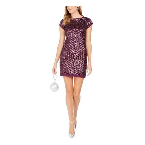 VINCE CAMUTO Purple Short Sleeve Short Dress 4